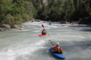 kayak guiding durance gorge
